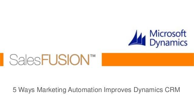 Marketing Automation for Microsoft Dynamics 2013