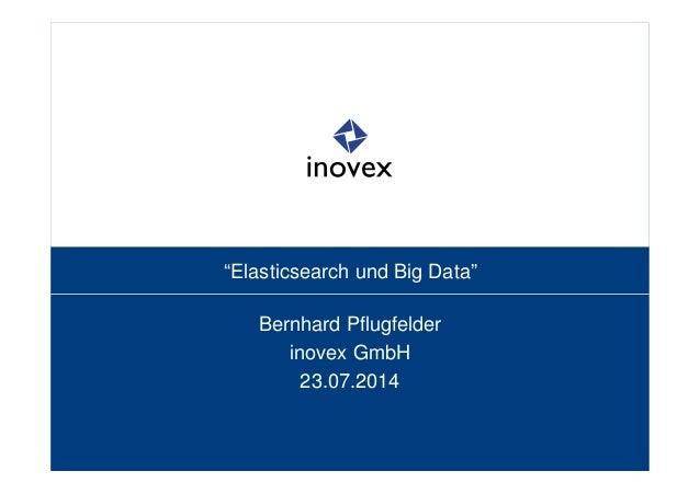 """""""Elasticsearch und Big Data"""" Bernhard Pflugfelder inovex GmbH 23.07.2014"""