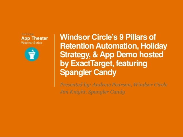 Windsor Circle Webinar 9 Pillars of Reteniton Automation featuring Spangler Candy