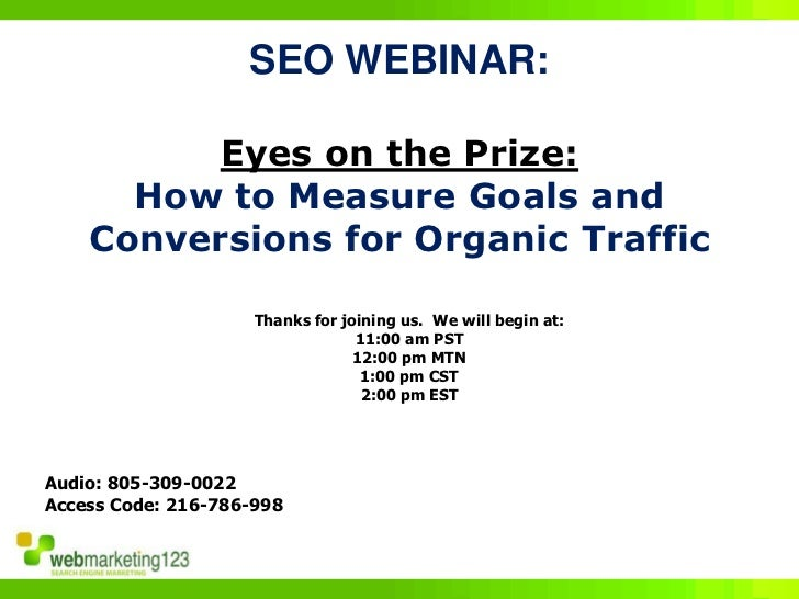 How to Measure Goals and Conversions for Organic Traffic