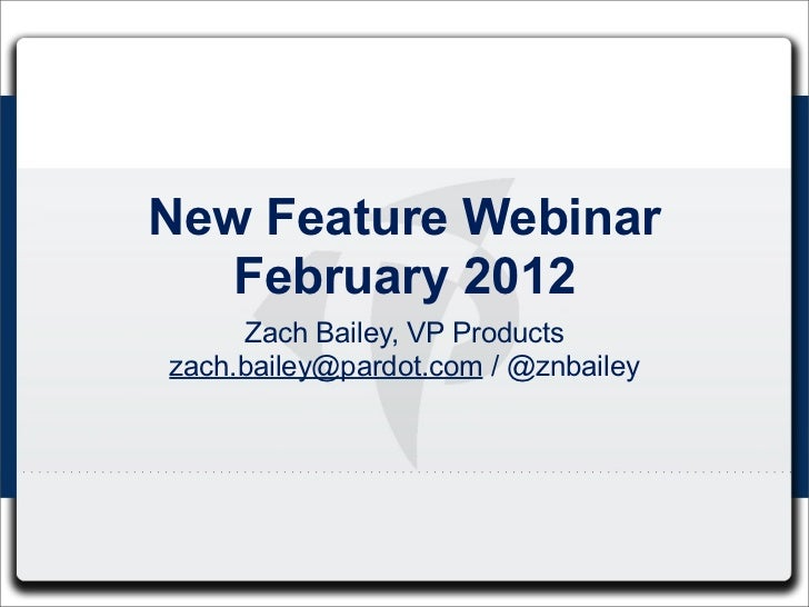 Webinar - February Features