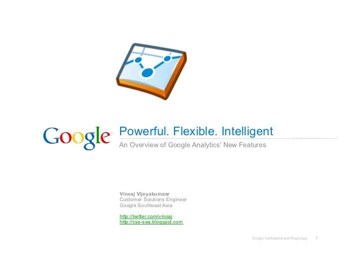 Google Analytics New Features - Webinar - 20091030