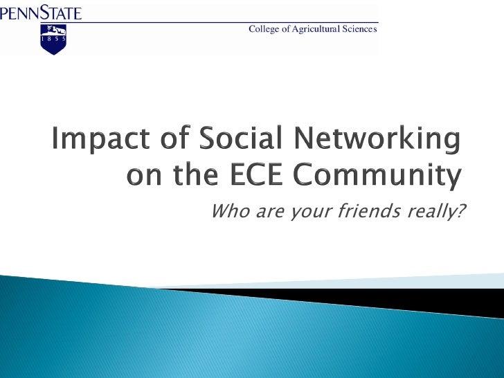 Webinar   impact of social networking on ece community