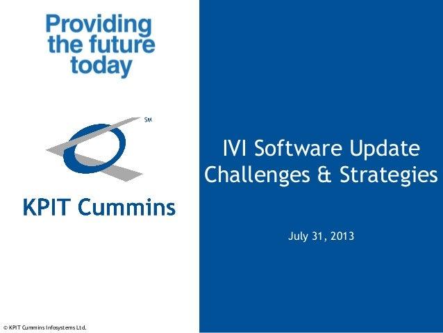 IVI Software Update - Challenges and Strategies - Webinar Presentation