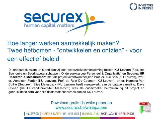 Studie over Langer werken (Securex)