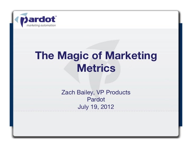 The Magic of Marketing Metrics