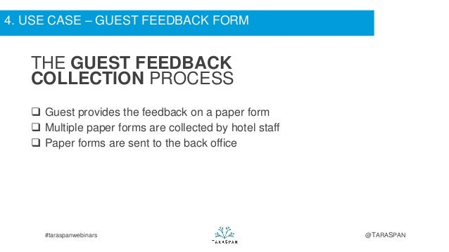 Product Feedback Forms Feedback on a Paper Form