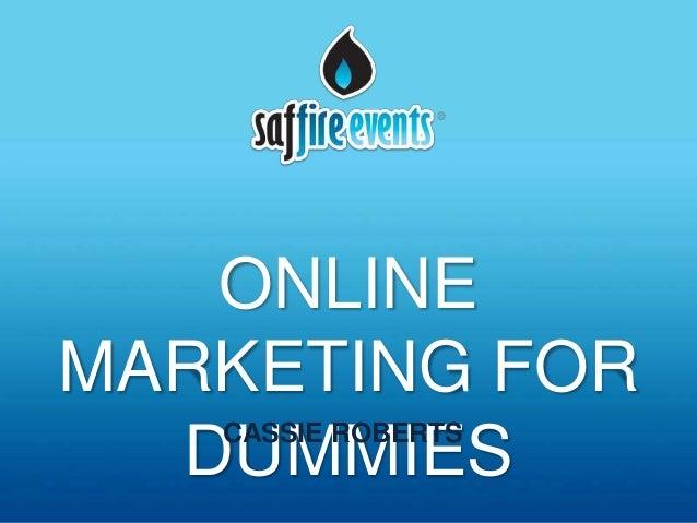 Webinar online marketing for dummies