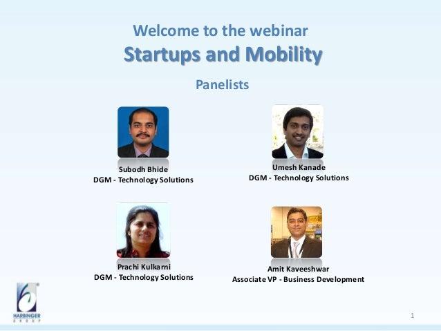 Webinar presentation-startups and mobility
