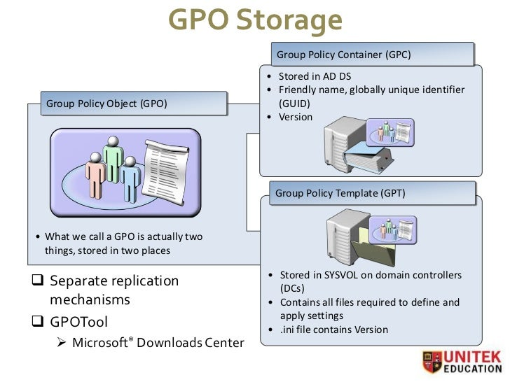 how to set group policy in server 2008