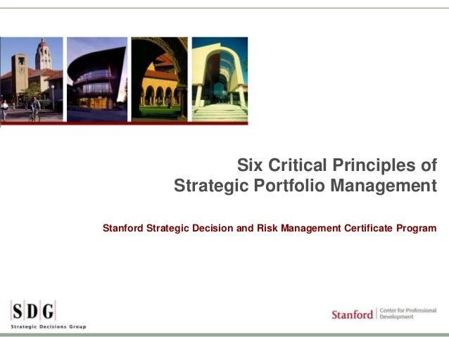 Stanford-SDG Webinar Six critical principles of strategic portfolio management