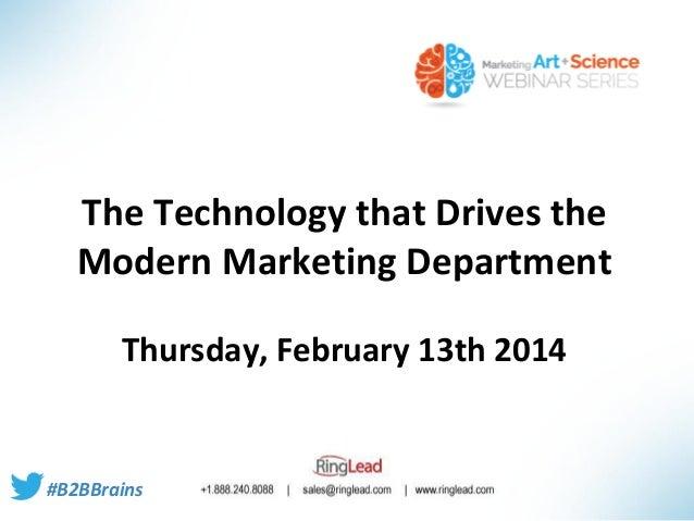 Webinar  tech. that drives modern mktg department - part 1