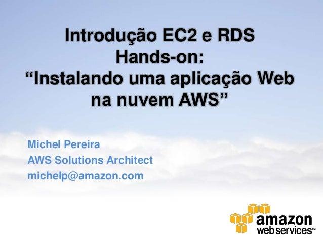 Instalando uma aplicação Web na nuvem AWS