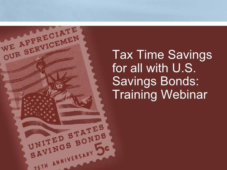 Savings Bond Training Webinar 10/ 11