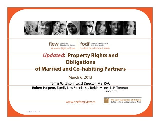 U d t d P t Ri ht dUpdated: Property Rights and Obligations of Married and Co-habiting Partnersof Married and Co habiting ...