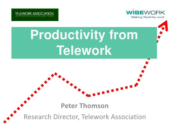 Productivity from       Telework               Peter Thomson Research Director, Telework Association