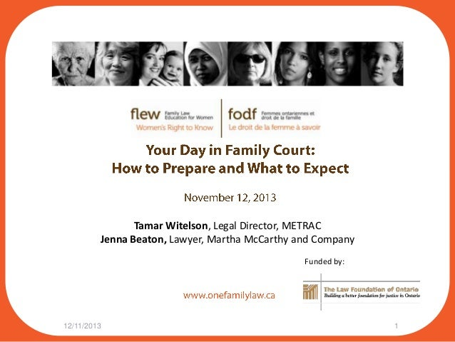 Tamar Witelson, Legal Director, METRAC Jenna Beaton, Lawyer, Martha McCarthy and Company Funded by:  12/11/2013  1