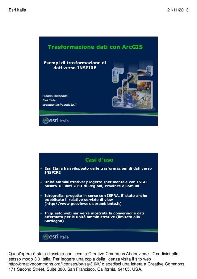 Webinar 2013 11-21-campanile_esri_italia