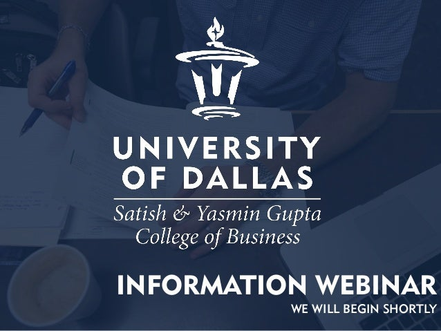 MBA and MS Programs at the University of Dallas