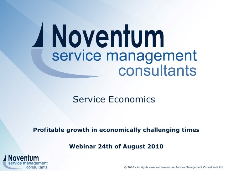 Webinar Service Economics profitable growth in economically challenging times