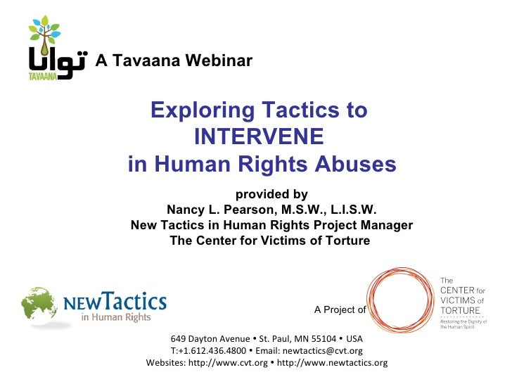 Tavaana/New Tactics Webinar 2: Intervention Tactics (English)