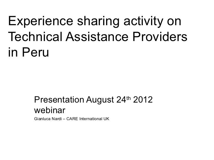 Webinar #4 CARE LAC Experience Exchange