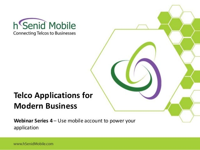 Use mobile account to power your application