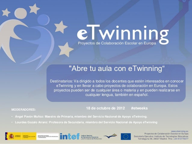 Abre tu aula con eTwinning