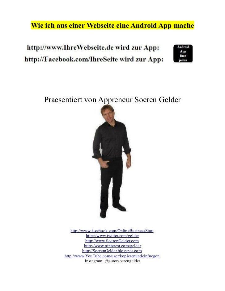 Android App erstellen aus Webseiten