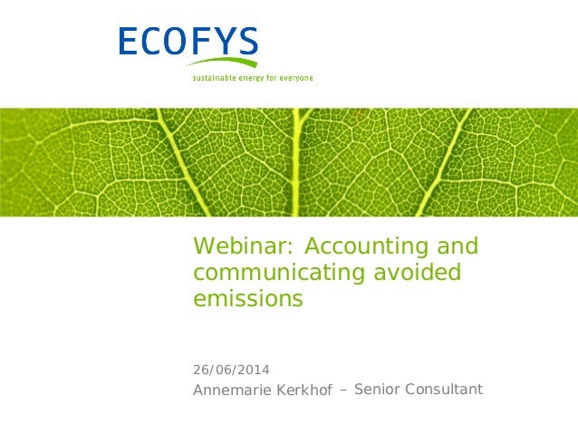 Accounting and reporting avoided emissions along the value chain