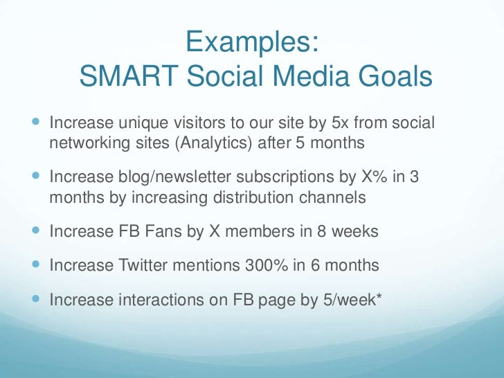 Social Media Implementation: Plans Goals and Strategy