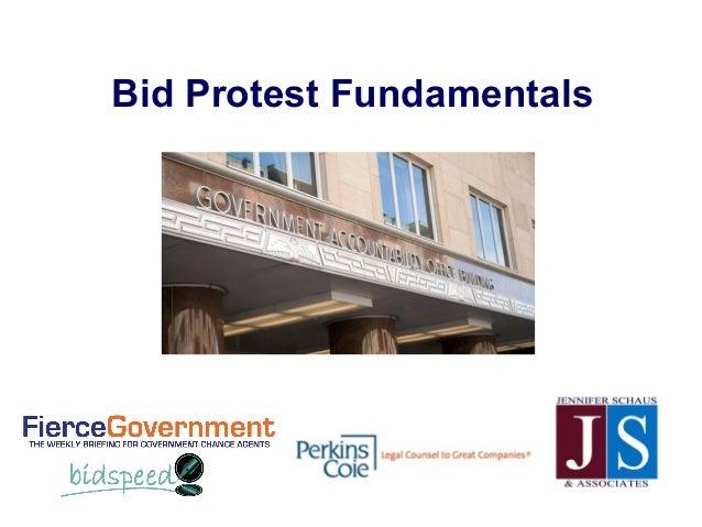 Bid Protest Fundamentals