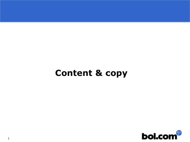 1Content & copy