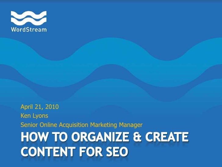 How to Create and Organize Content for SEO