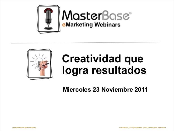 Webinar creatividad que logra resultados