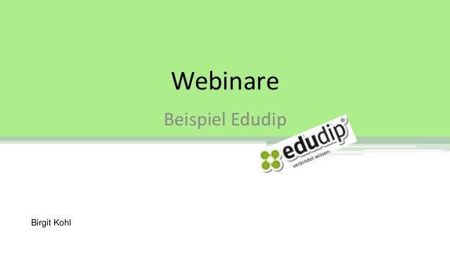 Webinare Beispiel Edudip Birgit Kohl