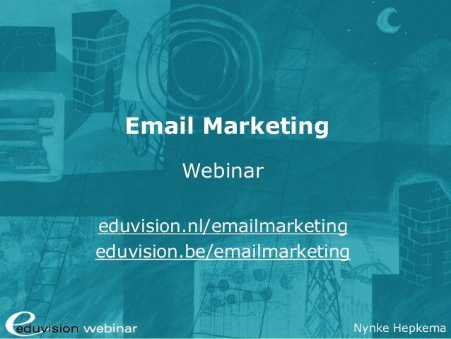 Webinar e-mailmarketing