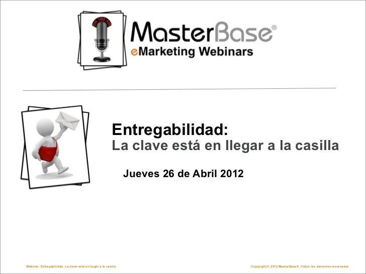 Webinar Entregabilidad en Email Marketing