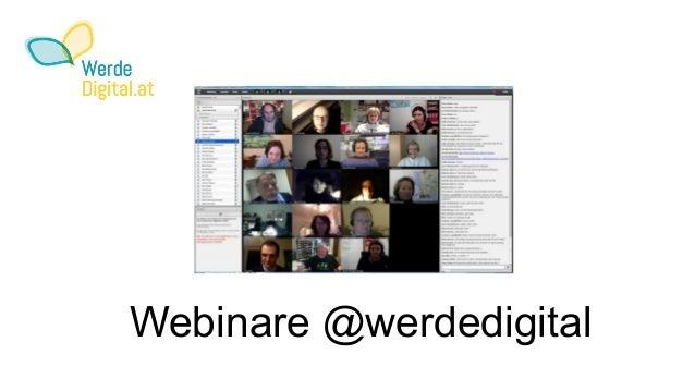 Webinare @werdedigital