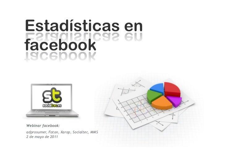 Estadísticas en facebook