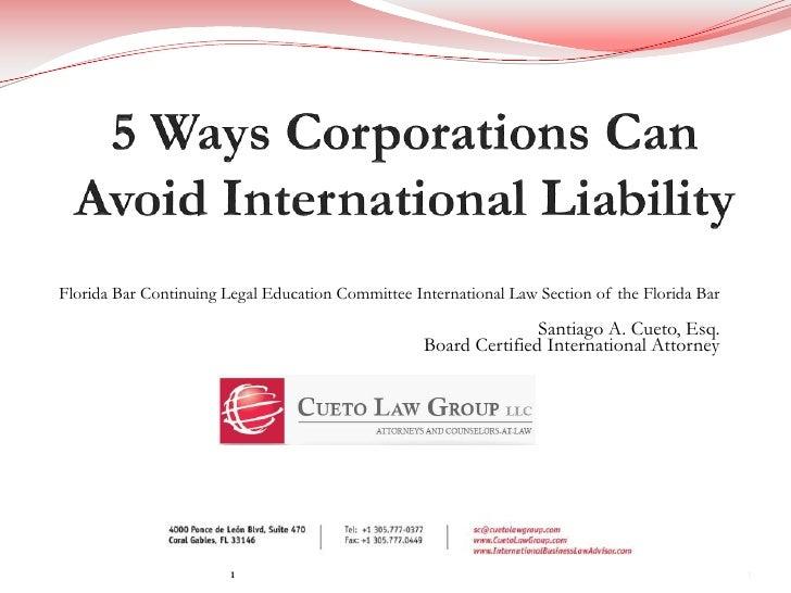 5 Ways Corporations Can Avoid International Liability