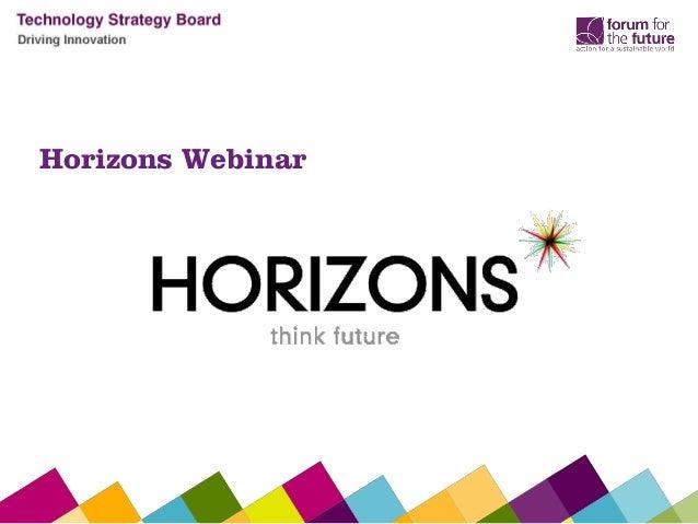 Horizons Webinar