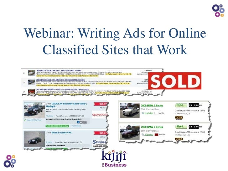 Webinar: Writing Ads for Online  Classified Sites that Work