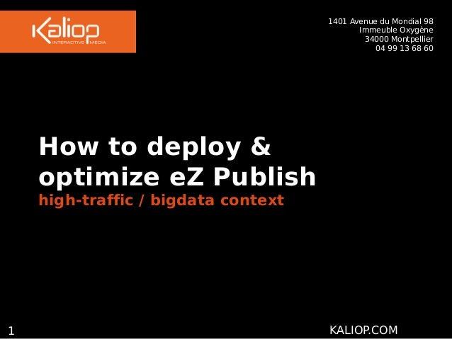 How to deploy & optimize eZ Publish