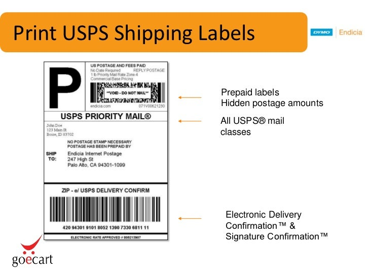 dymo endicia goecart free shipping webinar With how to get prepaid shipping label usps