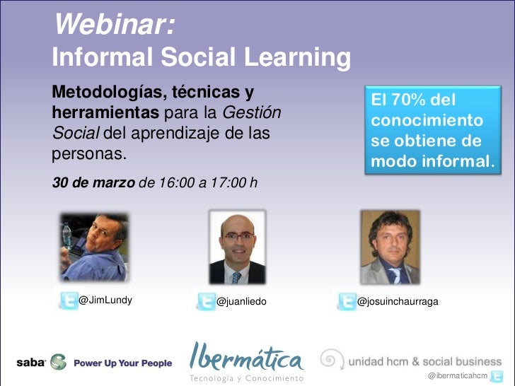Webinar Informal Social Learning 30 marzo 2011