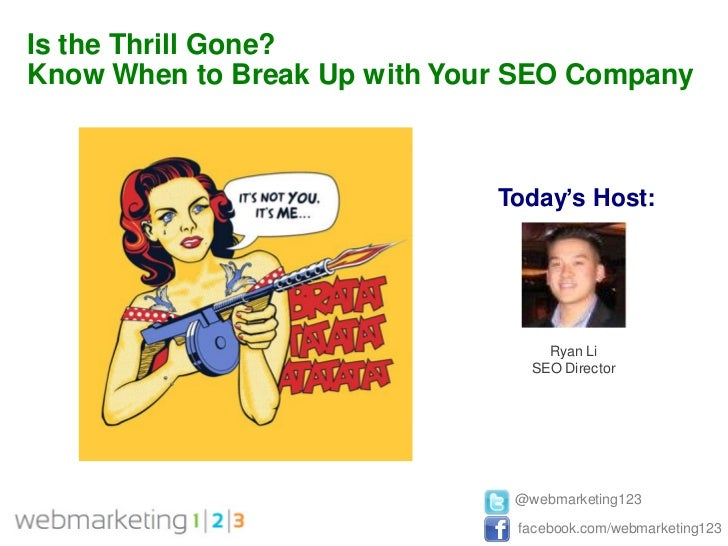 Is the Thrill Gone? Know When to Break Up with Your SEO Company