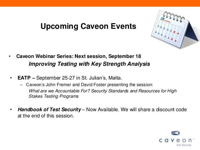 Caveon Webinar Series: I think I'm  a Clone Now; Item Cloning Strategies for Secure Testing