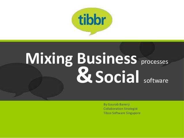 Mixing Business processes        & Social                        software             By Gaurab Banerji             Collab...
