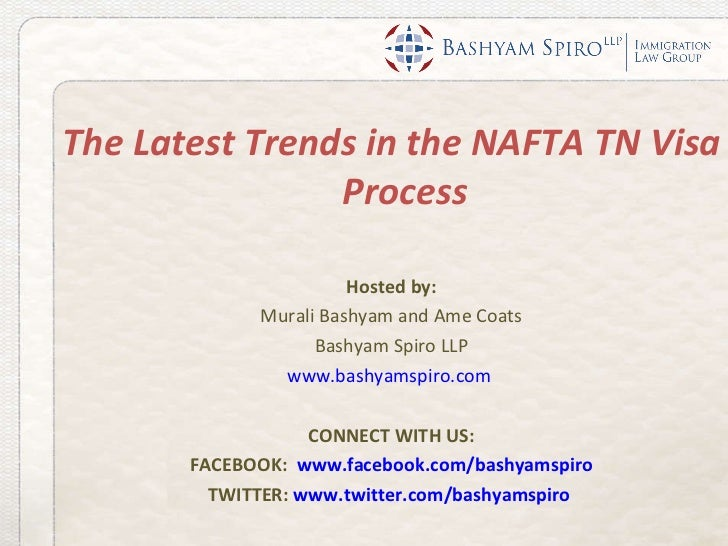 Webinar Latest Trends In TN Nafta Process